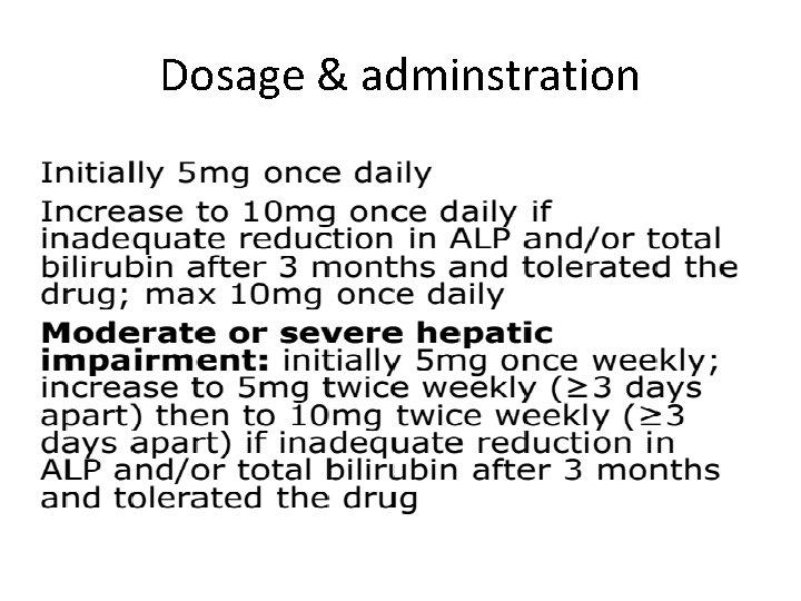 Dosage & adminstration