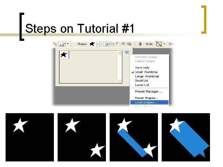 Steps on Tutorial #1