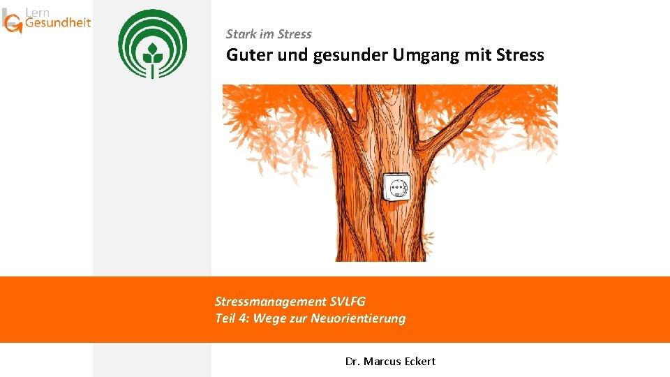 Stark im Stress Guter und gesunder Umgang mit Stressmanagement SVLFG Teil 4: Wege zur