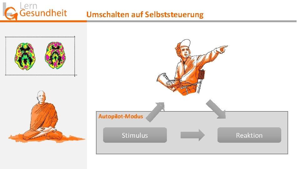 Umschalten auf Selbststeuerung Autopilot-Modus Stimulus Reaktion