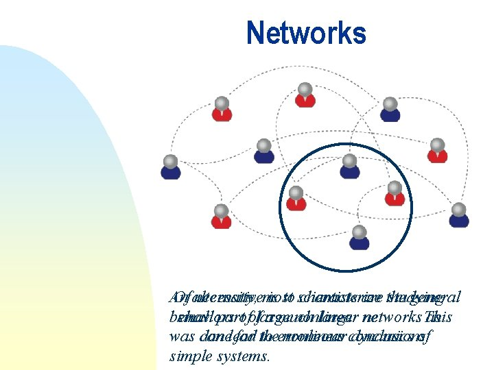 Networks An Of alternative necessity, most is to scientists characterize are the studying general