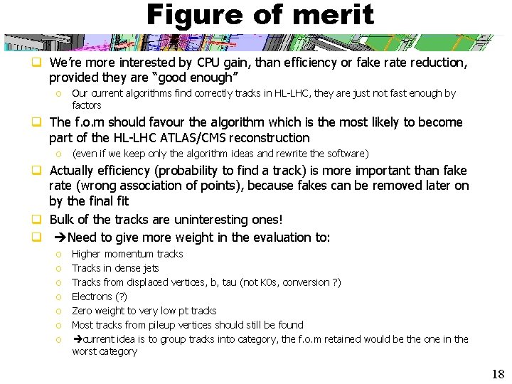 Figure of merit q We're more interested by CPU gain, than efficiency or fake