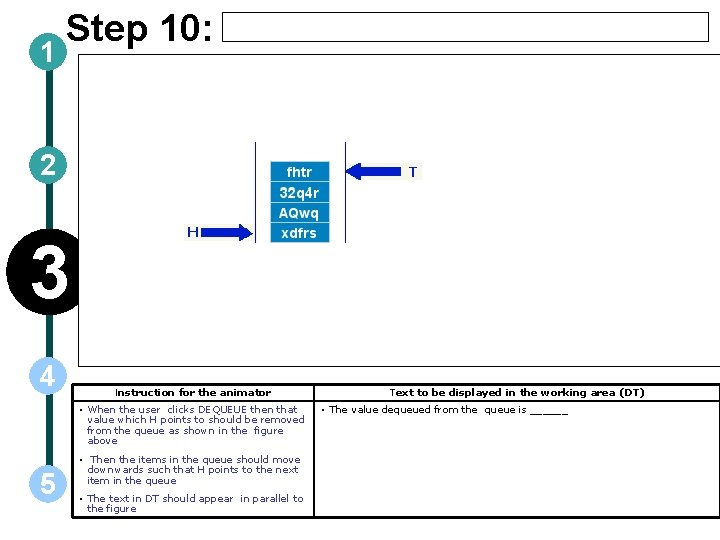 1 Step 10: 2 3 4 Instruction for the animator • When the user
