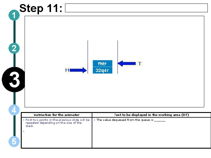 1 Step 11: 2 3 4 Instruction for the animator • First two points