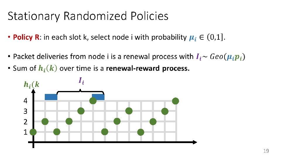 Stationary Randomized Policies • 4 3 2 1 19
