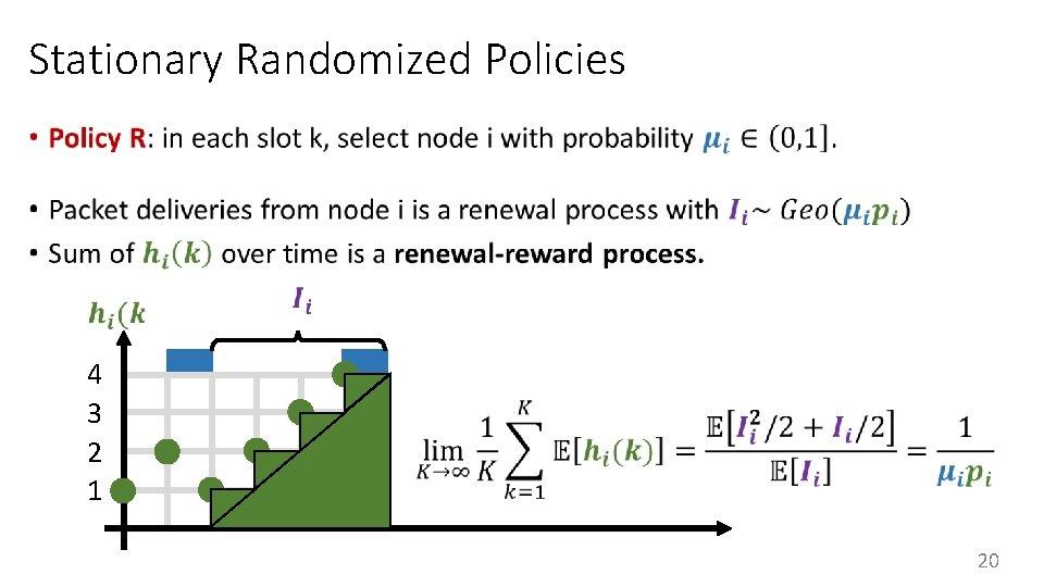 Stationary Randomized Policies • 4 3 2 1 20