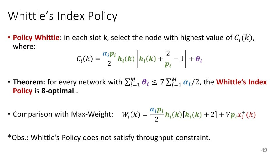 Whittle's Index Policy • 49