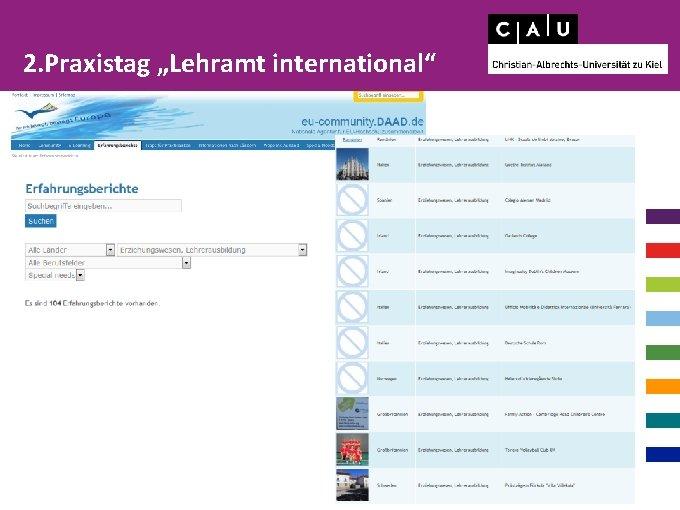 """2. Praxistag """"Lehramt international"""""""