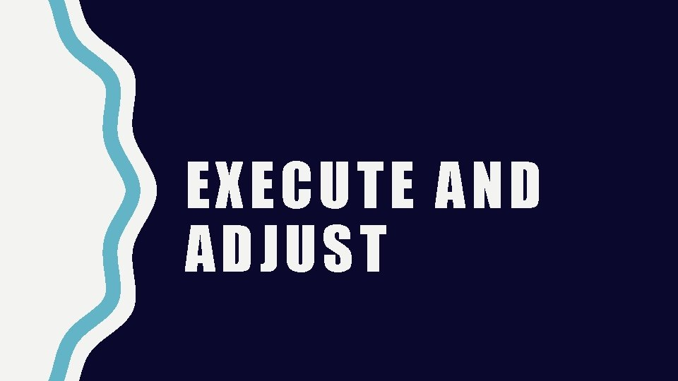 EXECUTE AND ADJUST