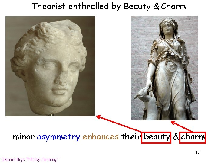Theorist enthralled by Beauty & Charm minor asymmetry enhances their beauty & charm 13