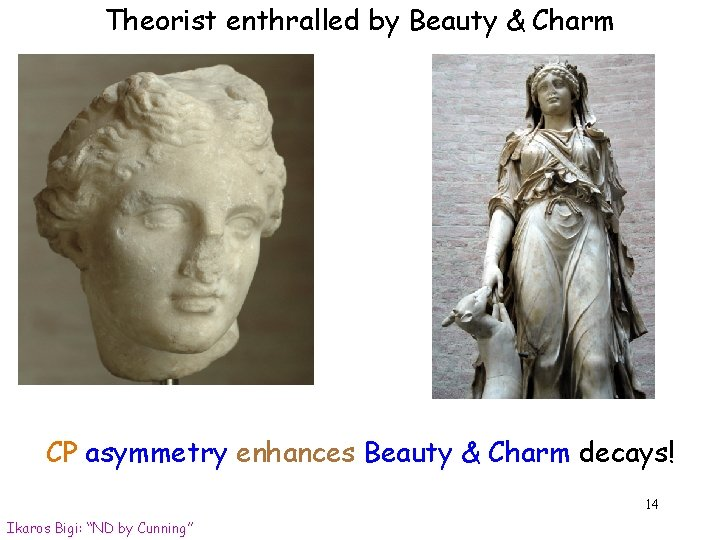 Theorist enthralled by Beauty & Charm CP asymmetry enhances Beauty & Charm decays! 14