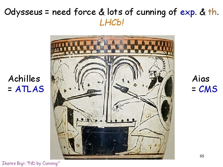 Odysseus = need force & lots of cunning of exp. & th. LHCb! Achilles