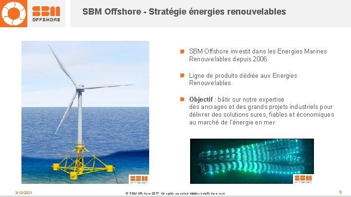 SBM Offshore - Stratégie énergies renouvelables SBM Offshore investit dans les Energies Marines Renouvelables