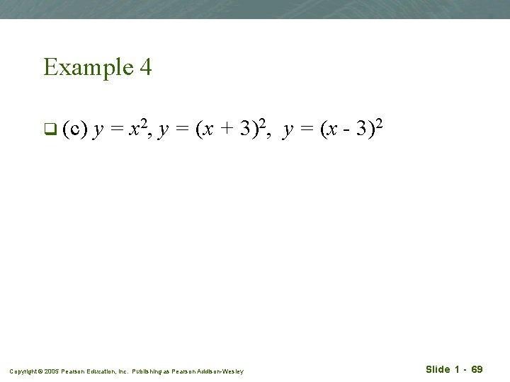 Example 4 q (c) y = x 2, y = (x + 3)2, y