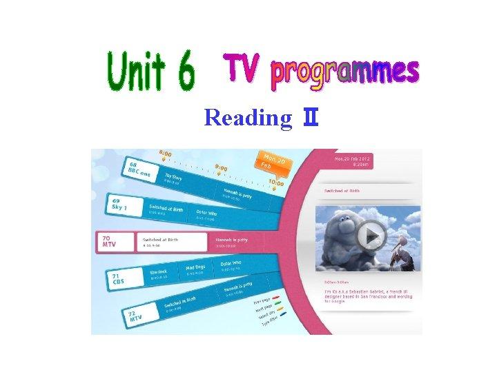 Reading Ⅱ