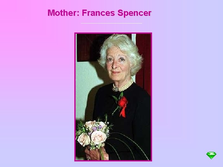 Mother: Frances Spencer
