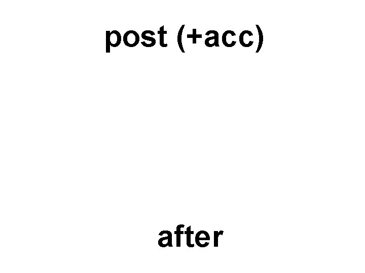 post (+acc) after