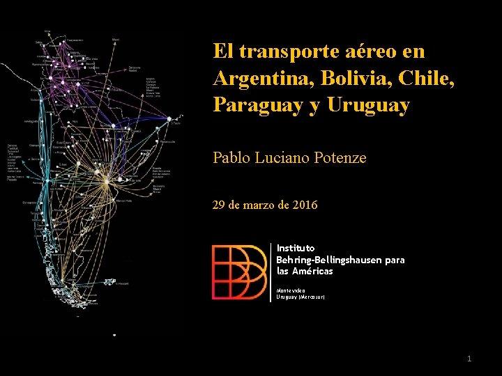 El transporte aéreo en Argentina, Bolivia, Chile, Paraguay y Uruguay Pablo Luciano Potenze 29