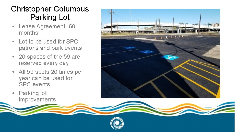 Christopher Columbus Parking Lot • Lease Agreement- 60 months • Lot to be used