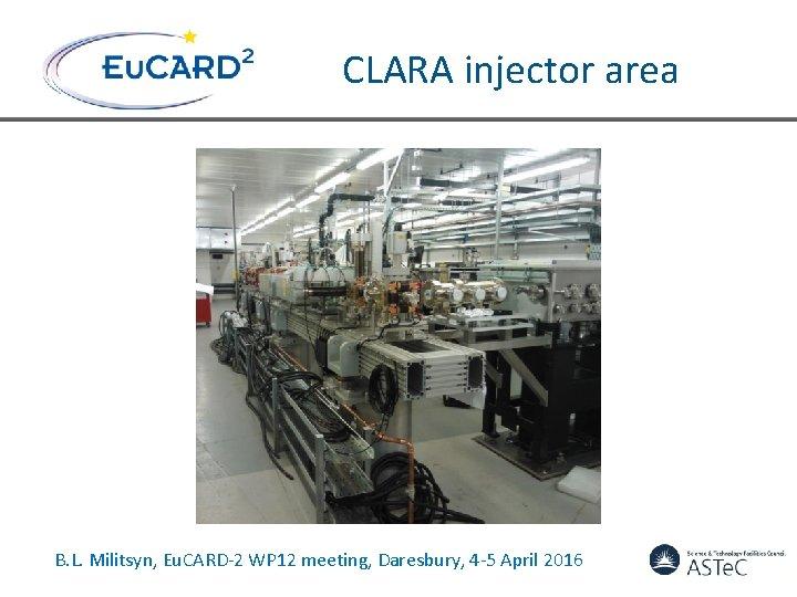 CLARA injector area B. L. Militsyn, Eu. CARD-2 WP 12 meeting, Daresbury, 4 -5