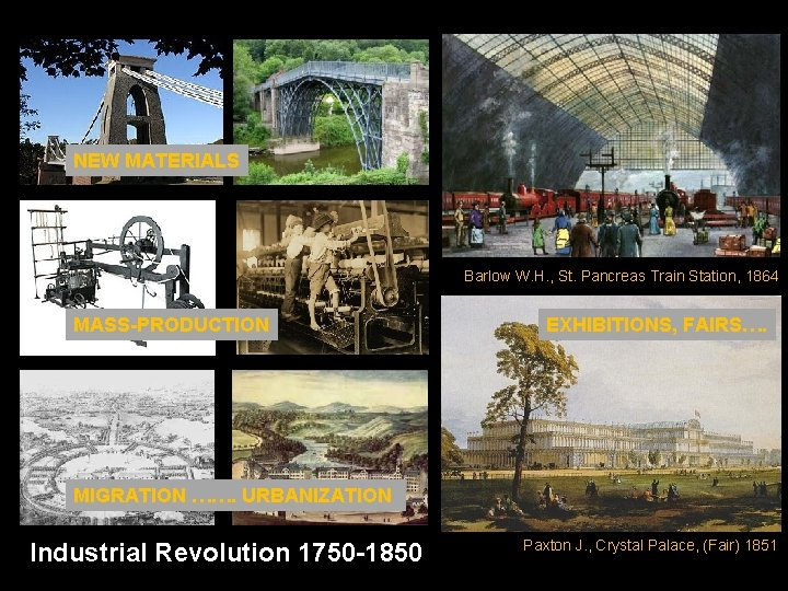 NEW MATERIALS Barlow W. H. , St. Pancreas Train Station, 1864 MASS-PRODUCTION EXHIBITIONS, FAIRS….