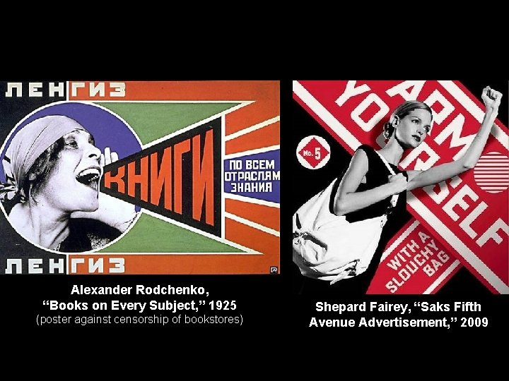 """Alexander Rodchenko, """"Books on Every Subject, """" 1925 (poster against censorship of bookstores) Shepard"""