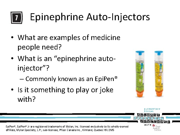 Epinephrine Auto-Injectors • What are examples of medicine people need? • What is an