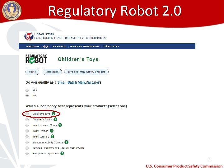 Regulatory Robot 2. 0 9