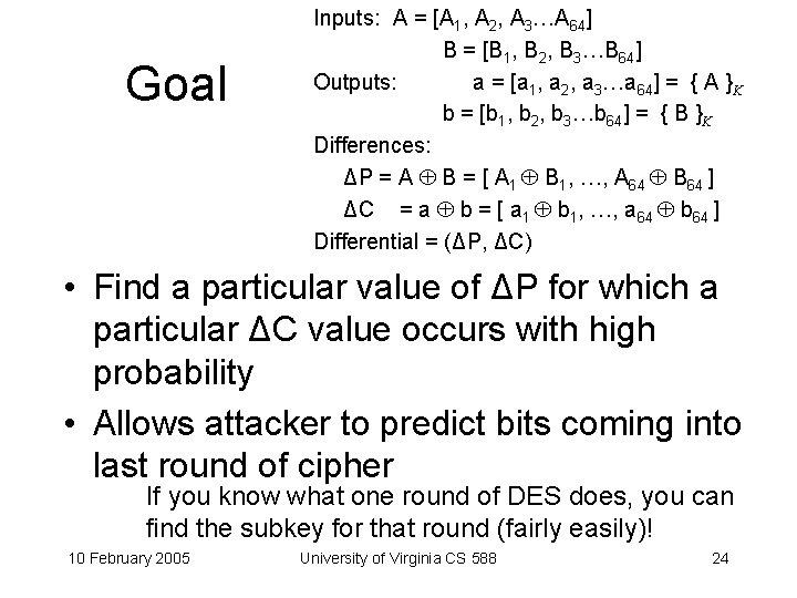 Goal Inputs: A = [A 1, A 2, A 3…A 64] B = [B