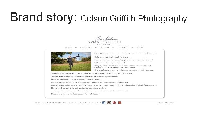 Brand story: Colson Griffith Photography