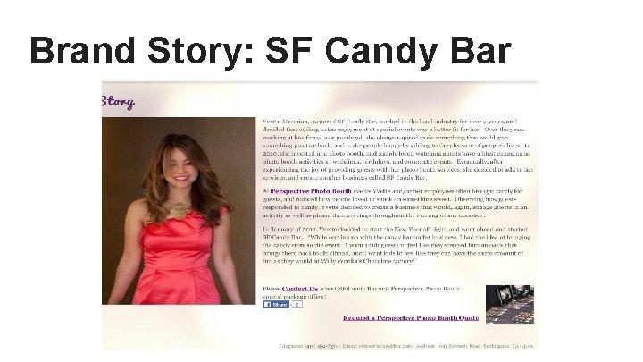 Brand Story: SF Candy Bar