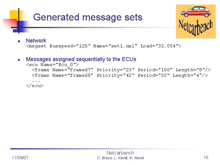 """Generated message sets n Network <msgset Busspeed=""""125"""" Name=""""set 1. xml"""" Load=""""32. 054""""> n Messages"""