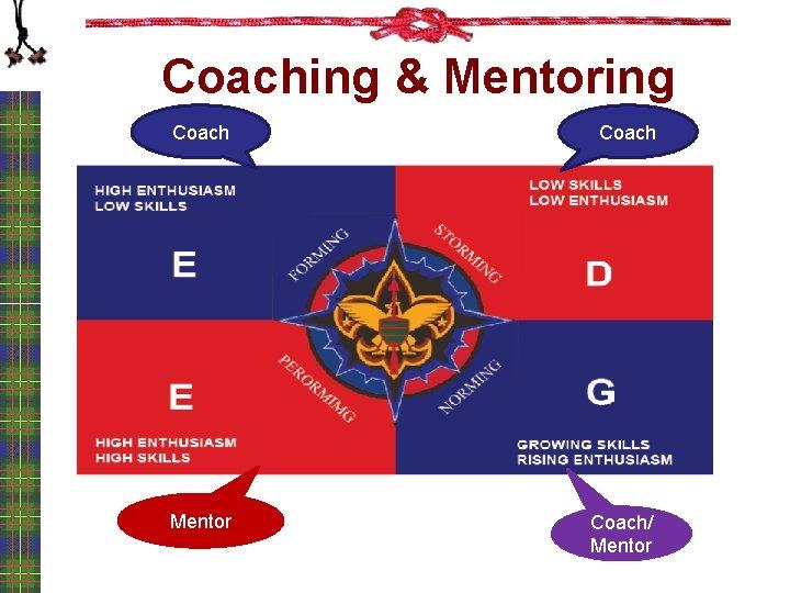 Coaching & Mentoring Coach Mentor Coach/ Mentor