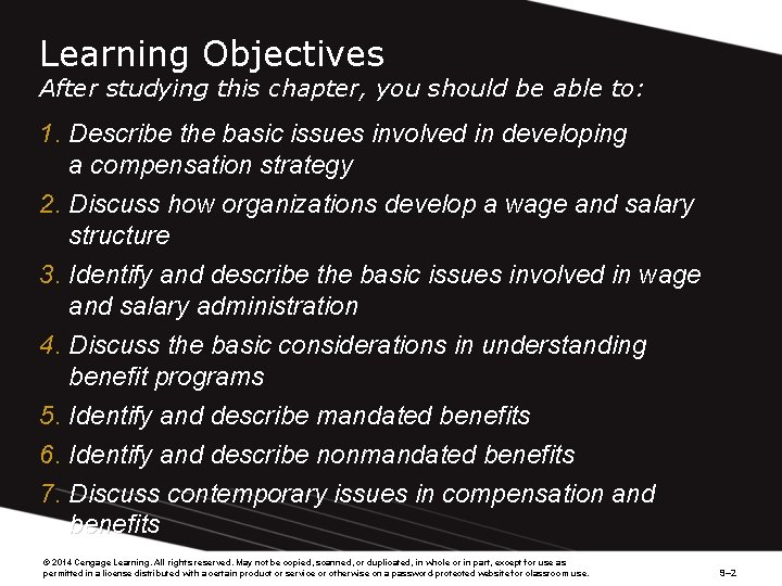 Learning Objectives After studying this chapter, you should be able to: 1. Describe the