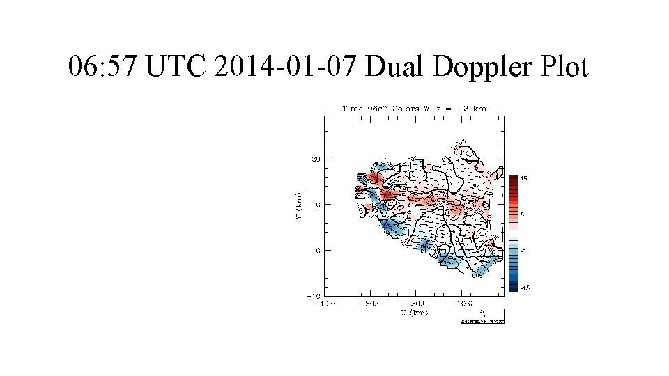 06: 57 UTC 2014 -01 -07 Dual Doppler Plot