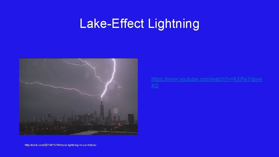 Lake-Effect Lightning https: //www. youtube. com/watch? v=KXRe 7 npyw 4 Q http: //wivb. com/2014/11/14/more-lightning-in-our-future/