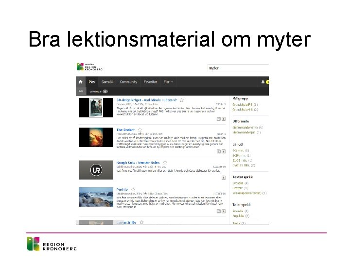 Bra lektionsmaterial om myter