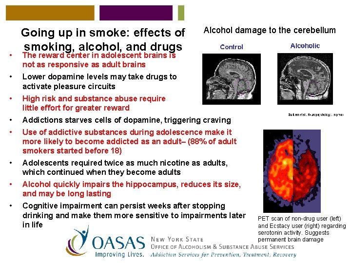 • Going up in smoke: effects of smoking, alcohol, and drugs Alcohol damage