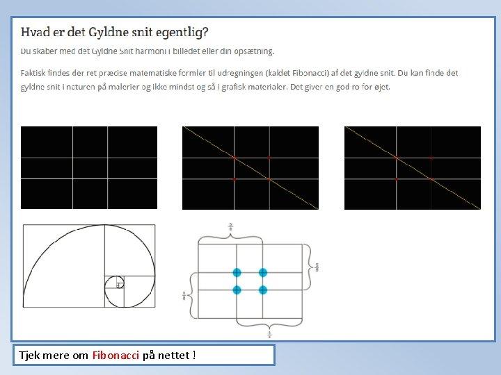 Tjek mere om Fibonacci på nettet !