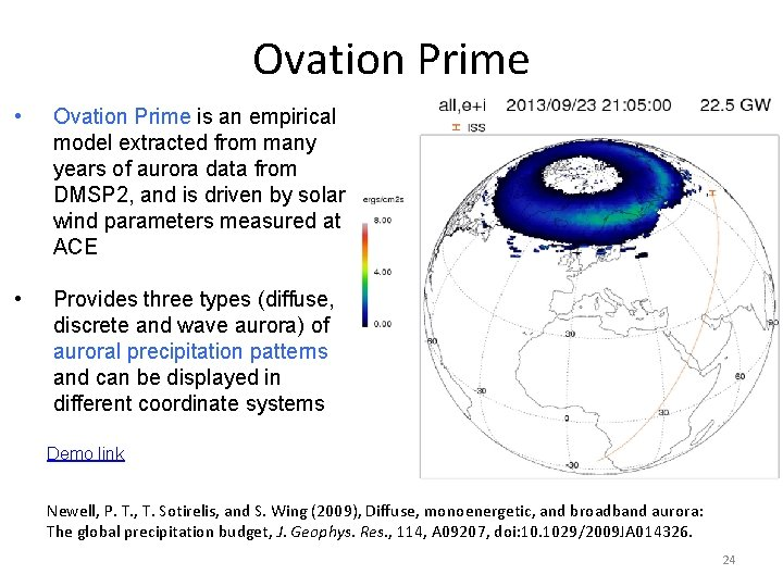 Ovation Prime • Ovation Prime is an empirical model extracted from many years of