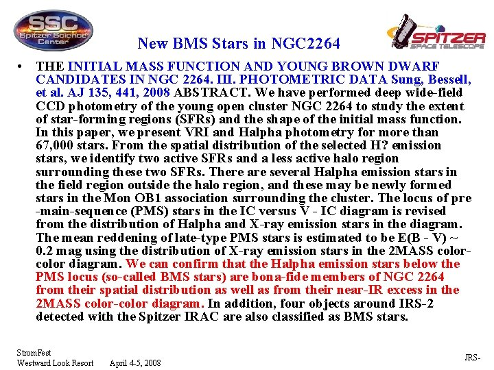 New BMS Stars in NGC 2264 • THE INITIAL MASS FUNCTION AND YOUNG BROWN