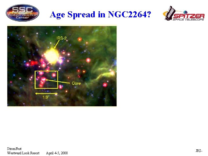 Age Spread in NGC 2264? Strom. Fest Westward Look Resort April 4 -5, 2008