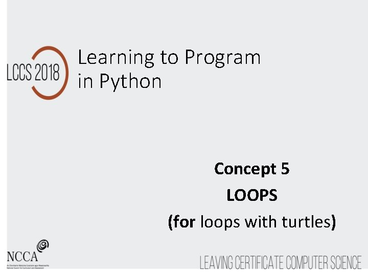 Learning to Program in Python Concept 5 LOOPS (for loops with turtles)
