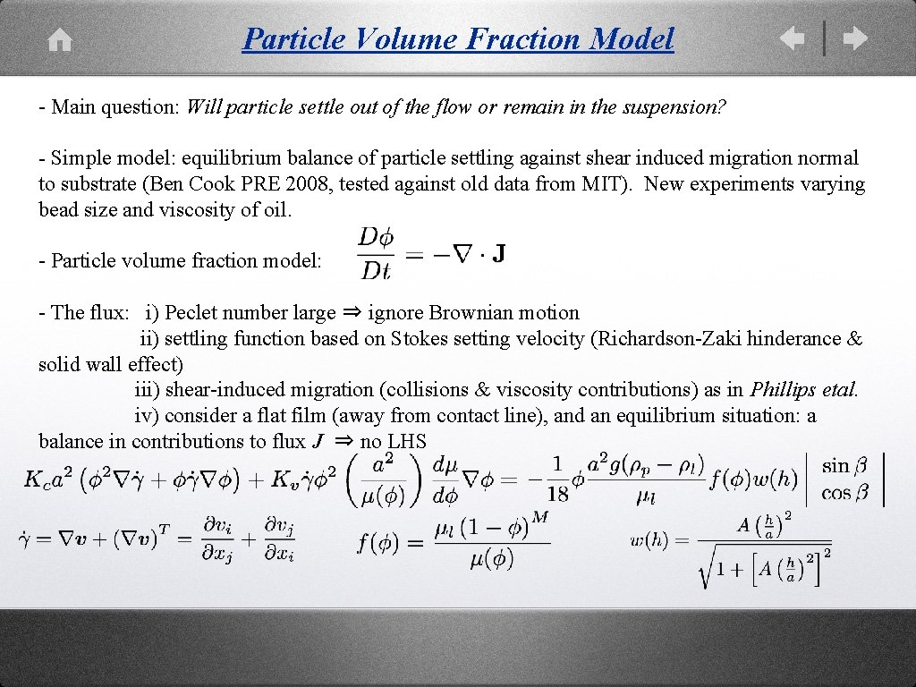 Particle Volume Fraction Model - Main question: Will particle settle out of the flow