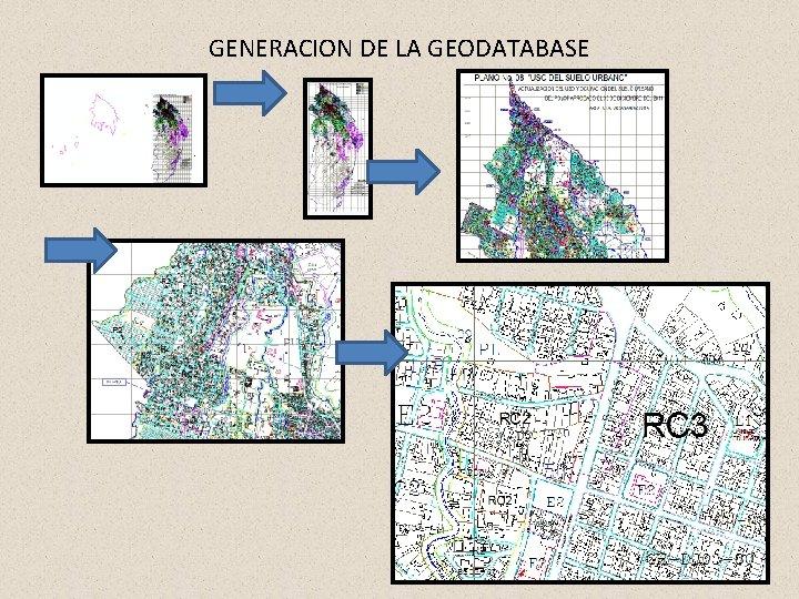 GENERACION DE LA GEODATABASE