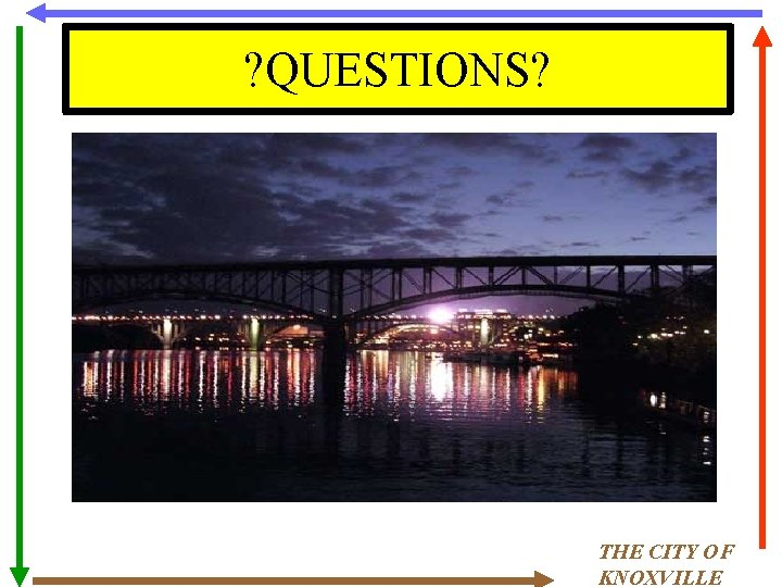 ? QUESTIONS? THE CITY OF KNOXVILLE