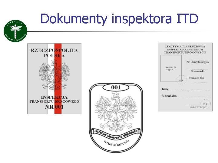 Dokumenty inspektora ITD