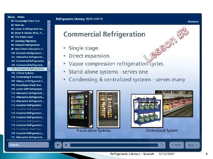 #3 n o s s Le Refrigerants Literacy - Spanish 3/12/2021 8