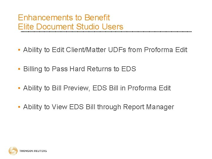 Enhancements to Benefit Elite Document Studio Users • Ability to Edit Client/Matter UDFs from