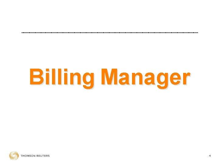 Billing Manager 4